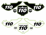"Kawasaki KLX110 2002-2009 ""Pro Pinstripe"" Pre-Printed Backgrounds by Fast Times"