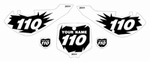 """Kawasaki KLX110 2002-2009 """"Shock"""" Pre-Printed Backgrounds by Fast Times"""