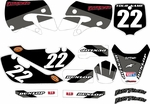 Kawasaki KLX 110 Graphics Kit 2002-2009 (Gray) Stripe Series by FastTimes