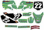 Kawasaki KLX 110 Graphics Kit 2002-2009 (Blue) Swirl Series by FastTimes