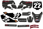 Kawasaki KLX 110 Graphics Kit 2002-2009 (Gray) Swirl Series by FastTimes