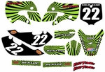 Kawasaki KLX 110 Graphics Kit 2002-2009 (Green) Swirl Series by FastTimes