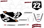 KLX 110 Graphics Kit (White) Clean Series by Fast Times