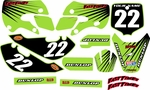 KLX 110 Graphics Kit (Green) Lines Series by Fast Times