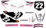 KLX 110 Graphics Kit (Pink) Arrow Series by Fast Times