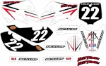 Kawasaki KLX110 Graphics Kit 2002-2009 (White) Arrow Series by FastTimes