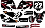 Kawasaki KLX110 Graphics Kit 2002-2009 (Black) Arrow Series by FastTimes