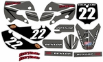 Kawasaki KLX 110 Graphics Kit 2002-2009 (Gray) Arrow Series by FastTimes