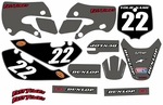 KLX110 Graphics Kit 2002-2009 (Gray) Clean Series by FastTimes