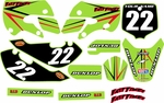 Kawasaki KLX110 Graphics Kit 2002-2009 (Green) Arrow Series by FastTimes