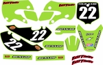 KLX110 Graphics Kit (Green) Clean Series by Fast Times