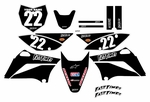 2010-2020 KLX110 Graphics Kit (Black) Clean Series by Fast Times