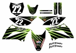 KLX110 Graphics Kit 2010-2020 (Black) Lines Series by Fast Times