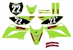 KLX110 Graphics Kit (Green) Clean Series by Fast Times 2010-2020