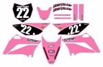 KLX110 Graphics Kit (Pink) Clean Series by Fast Times (2010-2020)