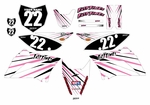 KLX110 Graphics Kit (Pink) Lines Series by Fast Times 2010-2020