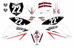 KLX110/L Graphics Kit (White) Arrow Series by Fast Times 2010-2020