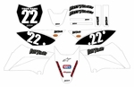 KLX110 Graphics Kit (White) Clean Series by Fast Times (2010-2020)