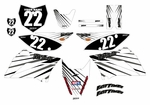 KLX110/L Graphics Kit (White) Lines Series by Fast Times 2010-2020