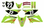 KLX110 Graphics Kit (Green) Arrow Series by Fast Times 2010-2020