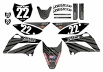 KLX110 Graphics Kit 2010-2020 (Gray) Lines Series by Fast Times