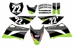 KLX110 Graphics Kit 2010-2020 (Black) Stripe Series by Fast Times