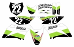 KLX110 Graphics Kit 2010-2020 (Green) Stripe Series by Fast Times