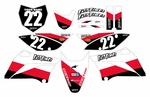 KLX110 Graphics Kit 2010-2020 (Red) Stripe Series by Fast Times