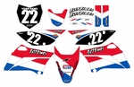 Stripe Series Fast Times KLX110 2010-2020 Graphics Kit (USA)