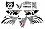 KLX110 Graphics Kit 2010-2020 (Black) Swirl Series by Fast Times