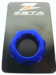 Zeta Steering Stem Billet Nut M22-1.0 (Blue) Kawasaki KLX110