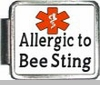 Allergic To Bee Stings Medical Alert Photo Italian Charm