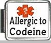 Allergic To Codeine Medical Alert Photo Italian Charm