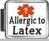 Allergic To Latex Medical Alert Photo Italian Charm
