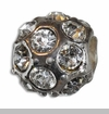 April Silver Ball with Diamond Color Crystals European Bead Charm