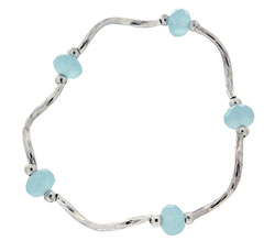 Prism Pals Aqua Opaque Color Crystal Stretch Bracelet