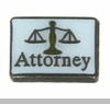 Attorney with Justice Scales Floating Locket Charm