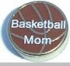 Basketball Mom Floating Heart Locket Charm