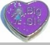 Big Sis Floating Heart Locket Charm
