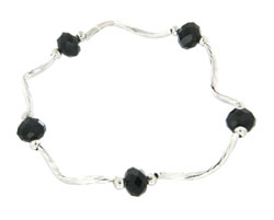 Prism Pals Black Color Crystal Stretch Bracelet