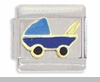 Blue Baby Carriage Italian Charm