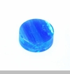 Blue Pacific Round Opal Floating Charm