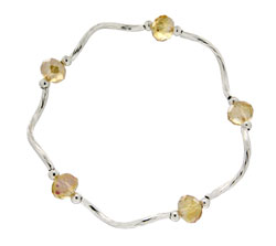 Prism Pals Bronze Gold Aurora Borealis Color Crystal Stretch Bracelet