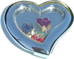 Cowgirl Up Heart Locket Charm