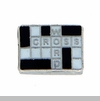 Crossword Puzzle Floating Locket Charm
