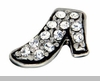 Crystal High Heel Pump Shoe Floating Locket Charm
