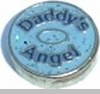 Daddy's Angel Heart Locket Charm