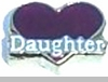 Daughter with Heart Heart Locket Charm