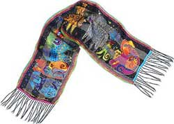 Dogs & Doggies Silk Scarf by Laurel Burch