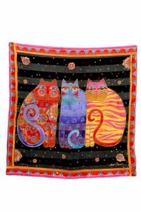 Feline Friends Square Scarf by Laurel Burch